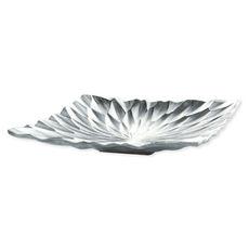 Coupe décorative en métal couleur argent 31x31cm