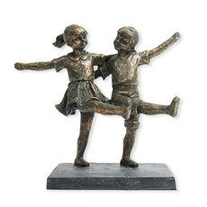 Statuette Enfants en résine 20x22cm