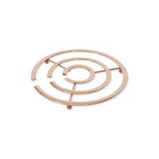 Dessous de plat en inox couleur cuivre 18cm