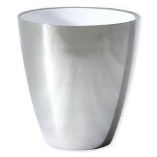 Seau à champagne en métal blanc 19cm