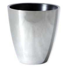 Seau à champagne en aluminium noir 19cm