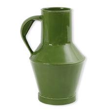 Vase à anse vert en céramique 32cm
