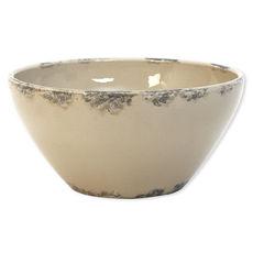 Saladier beige en céramique 30,5cm
