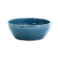 Saladier bleu en céramique 25cm