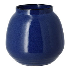 Vase bleu en grès 18cm