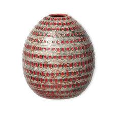 Vase rouge en céramique 20cm