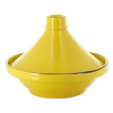 Plat à tajine en grès jaune 28cm