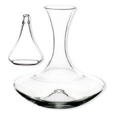 Carafe à décanter + aérateur en verre soufflé bouche 1,3L