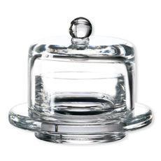 Beurrier en verre soufflé bouche 9cm
