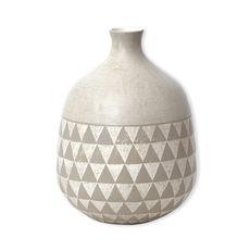 Vase gris en céramique 26cm
