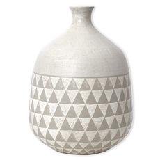 Vase gris en céramique 34cm