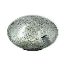 Lampe à poser en verre gris 27cm