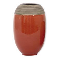Vase en céramique rouge brique 27cm