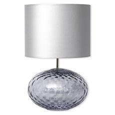 Lampe en verre bleu ciel avec abat-jour 60cm