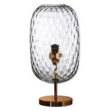 Lampe sur pied en verre transparent 43cm