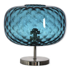 Lampe sur pied en verre bleu 30cm
