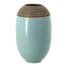 Vase vert sauge en céramique 27cm