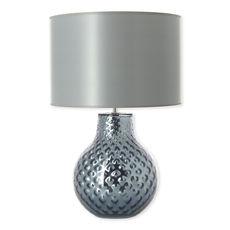Lampe en verre gris avec abat-jour 57cm