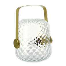 Lampe à poser en verre transparent 24cm